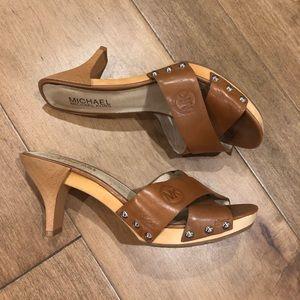 Michael Kors tan heels.  Size 8
